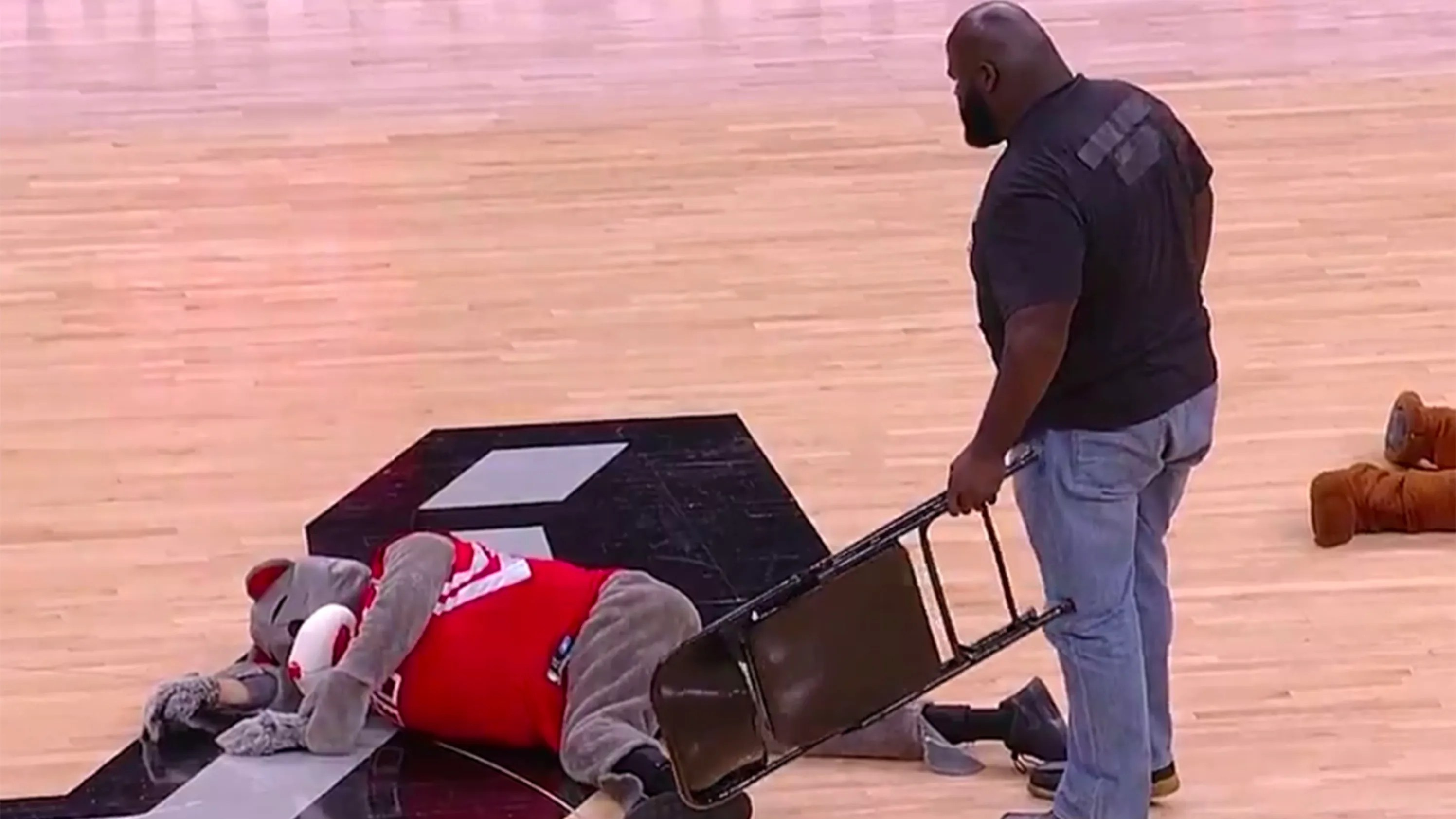 steel chair used in wwe belmont dental chairs prices mark henry smashes rockets mascot with