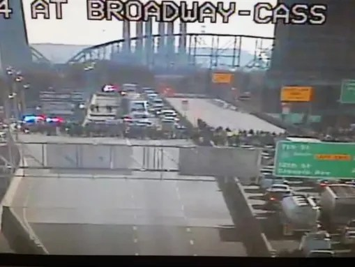 Protesters shut down Interstate 44.