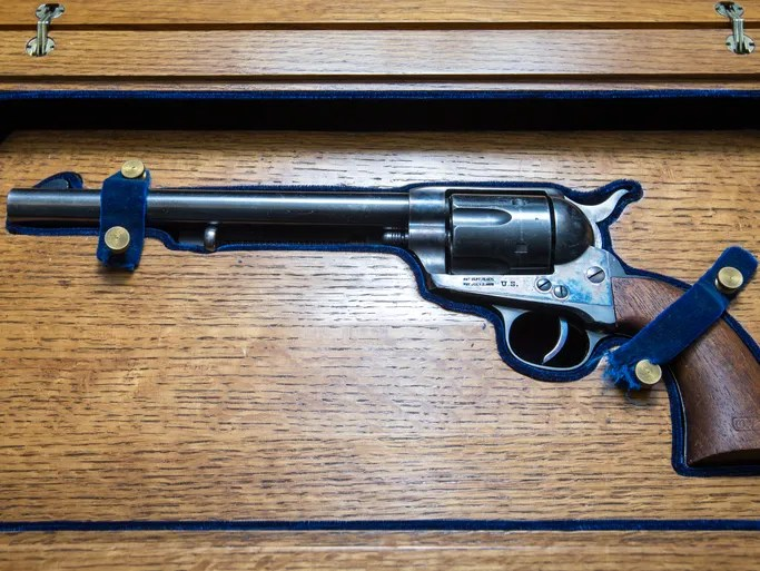In mid-April,J. Levine Auction & Appraisal in Scottsdale will be auctioning many personal effects from Wyatt Earp and his family, including Wyatt's Winchester shotgun. The items Levine is selling come from the collection of Earp historian Glenn G. Boyer.