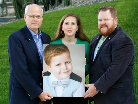 Dr. Michael Berens (left) and Shawnee and Shane Doherty