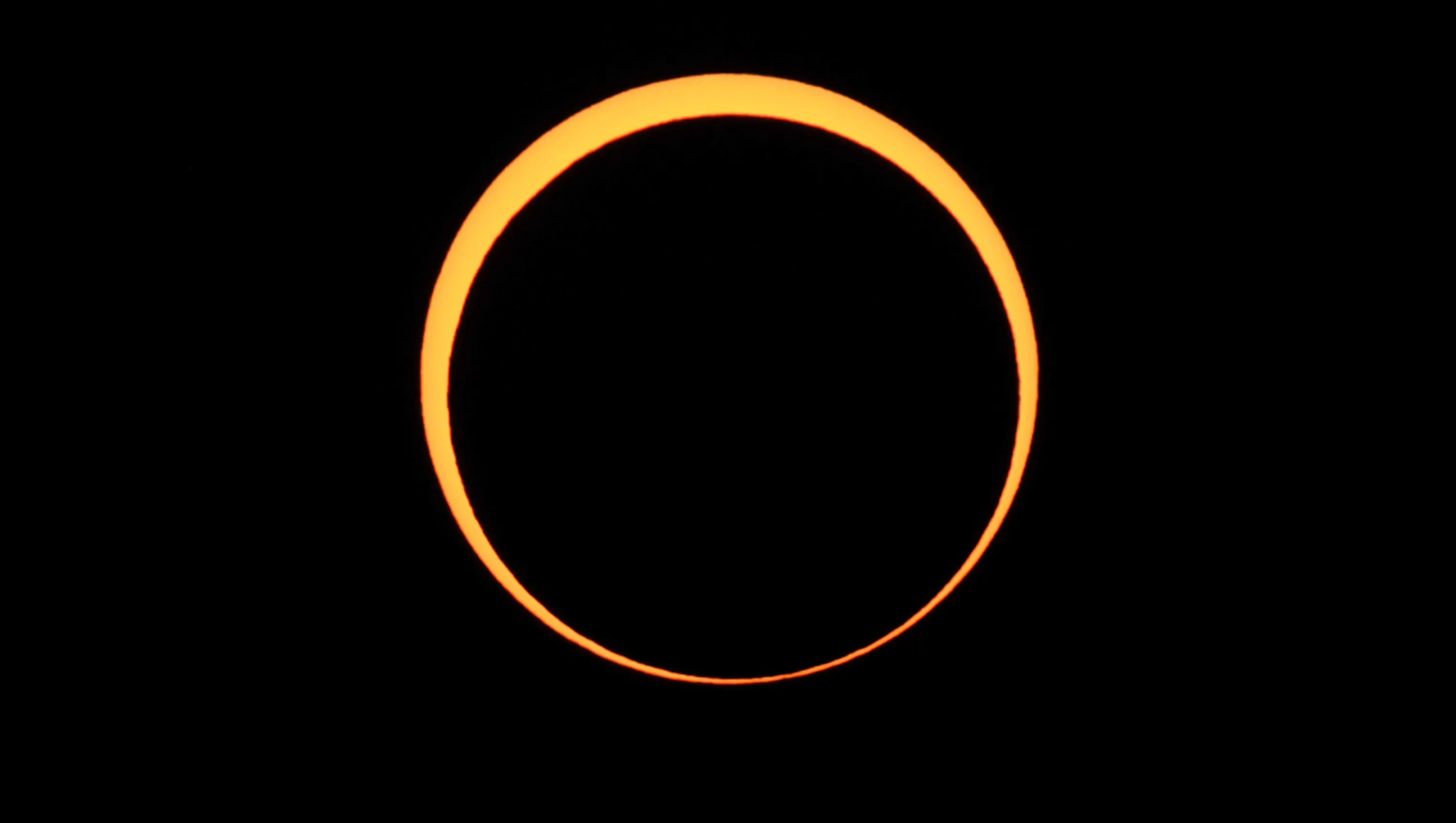 The moon appears to cover the sun during an annular eclipse of the sun on May 20, 2012, as seen from Chaco Culture National Historical Park in Nageezi, Ariz.