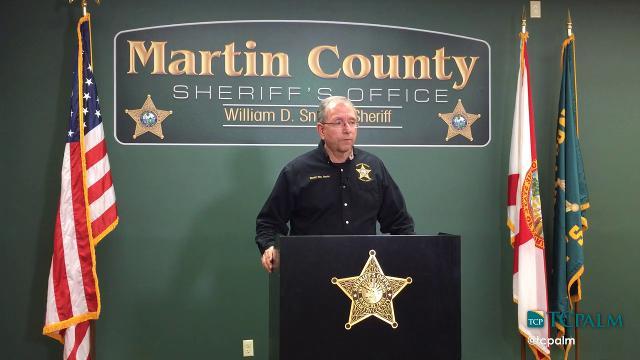 Martin County Sheriff William Snyder gives an update on