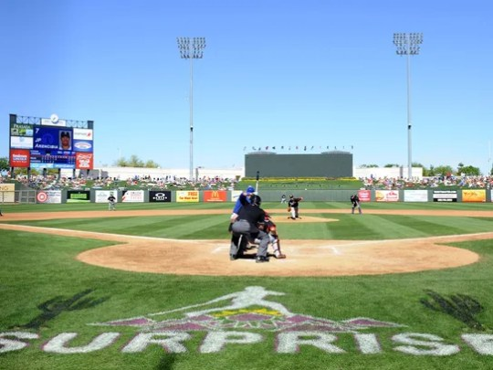 Surprise Stadium is the spring training home to the
