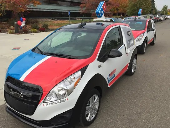 Dominos rolls out new pizza delivery car