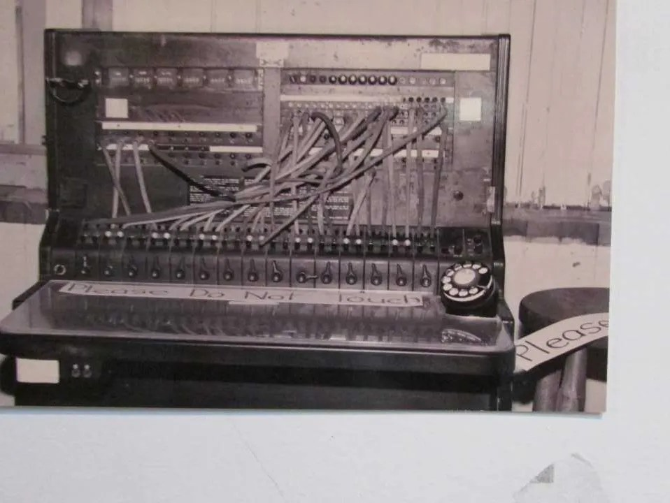 old phone switchboard at