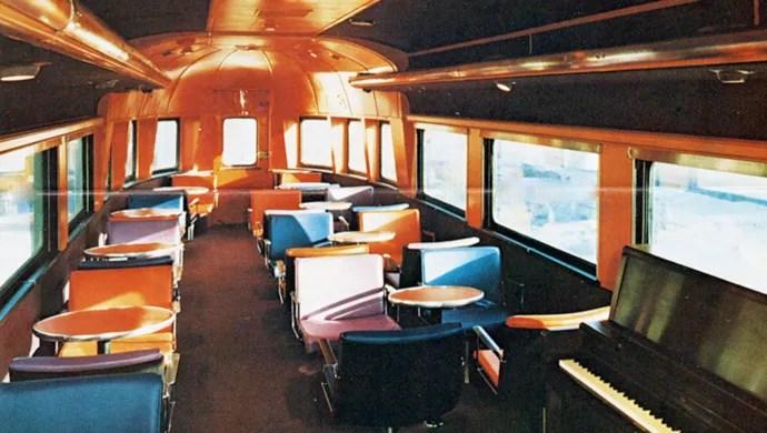 Amtrak interiors through the years