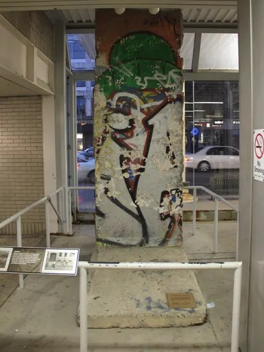 Berlin Wall exhibit - CTA Western station - front<br /><br /><br /> Piece
