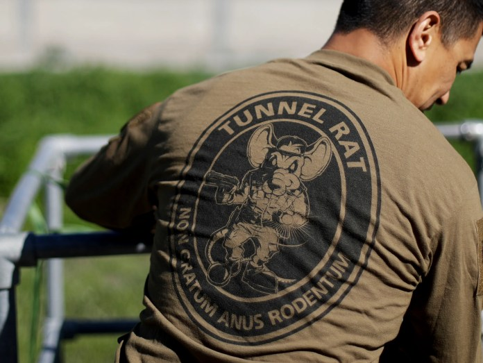 A member of the Border Patrol's Border Tunnel Entry