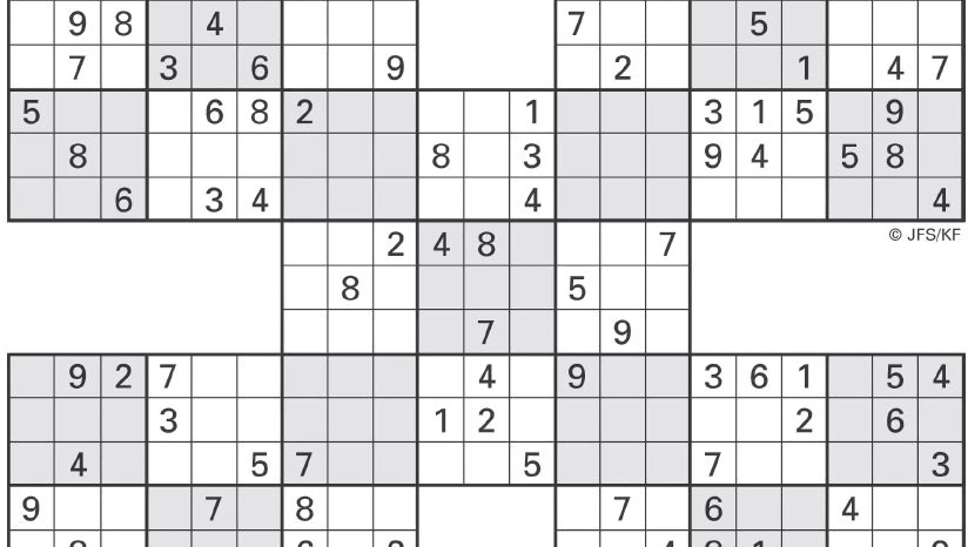 Printable Sudoku High Five May 24