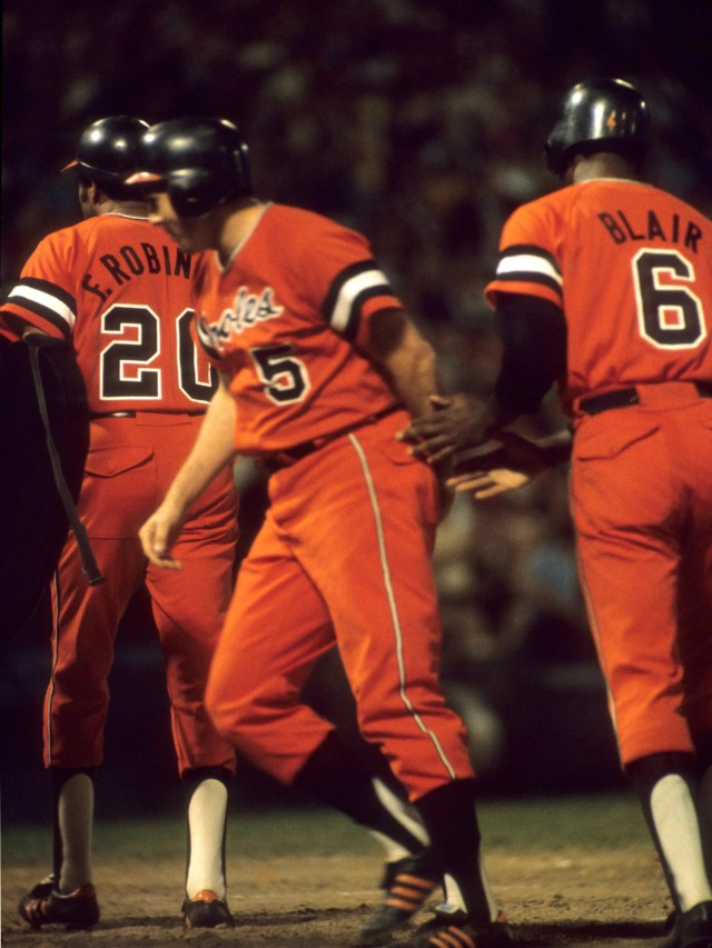 Baltimore Orioles celebrated their 1970 World Series by adding an all-orange alternate uniform in 1971 ...