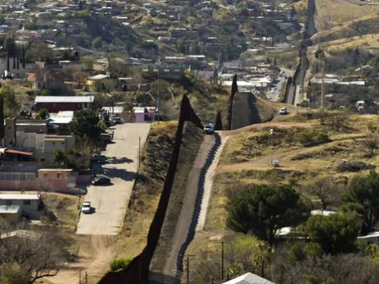 The border fence that separates Nogales, Sonora, Mexico