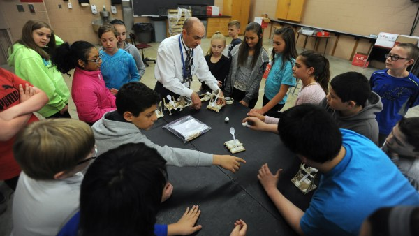 Powell Middle School Students Craft Marshmallow Catapults