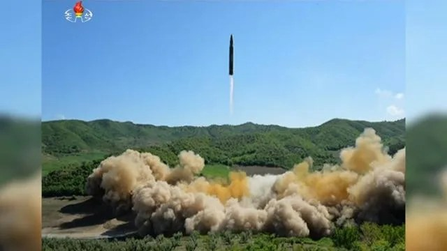 Image result for North Korea's test-launch of its first intercontinental ballistic missile