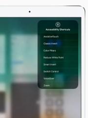 An accessibility shortcuts menu on Apple's iPad Pro
