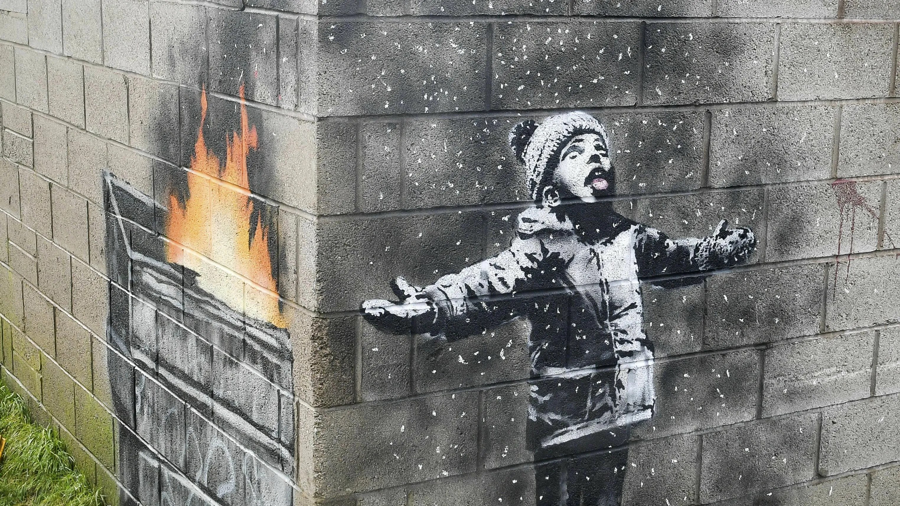 Banksy Mural On Garage In Wales Sold For 129k