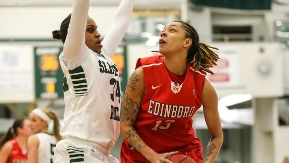 York High graduate Aignee' Freeland, right, is going