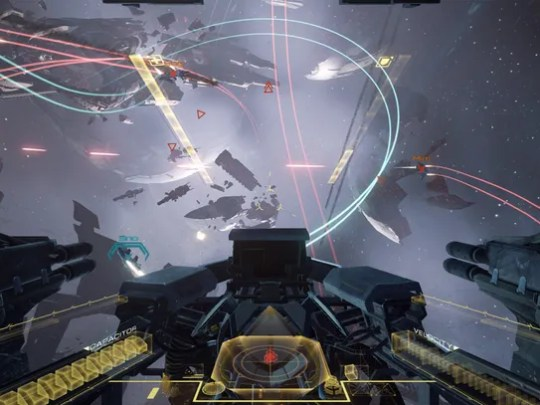 A scene from 'Eve: Valkyrie.'