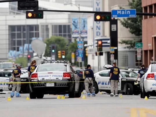 AP POLICE SHOOTINGS DALLAS A USA TX