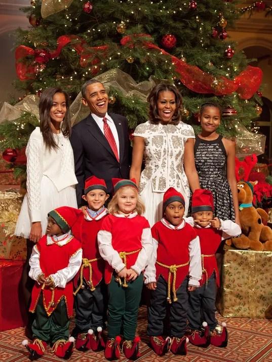 Obamas Hugh Jackman Celebrate Christmas In Washington