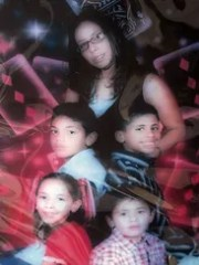Adrienne Heredia (top), her two boys, 12-year-old Enrique