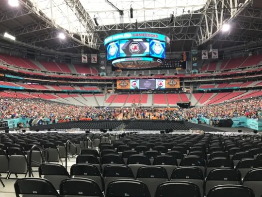 Main Level End 140: The view from the end zone cost