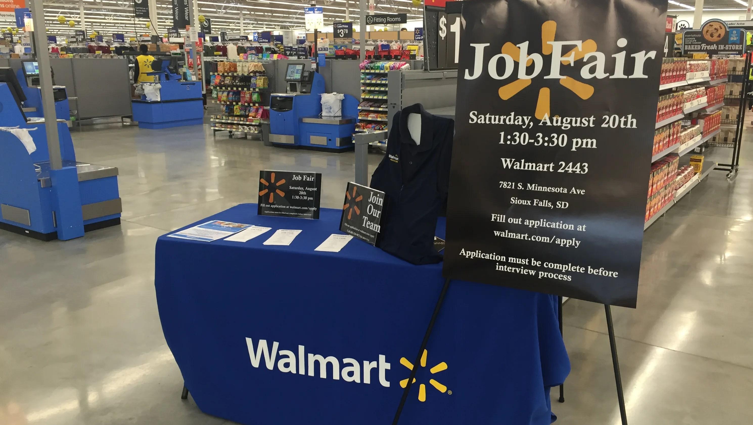 Walmart holding job fair Saturday