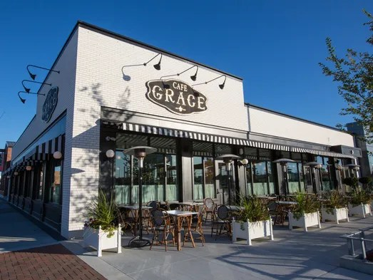 Cafe Grace is an upscale French restaurant, one of