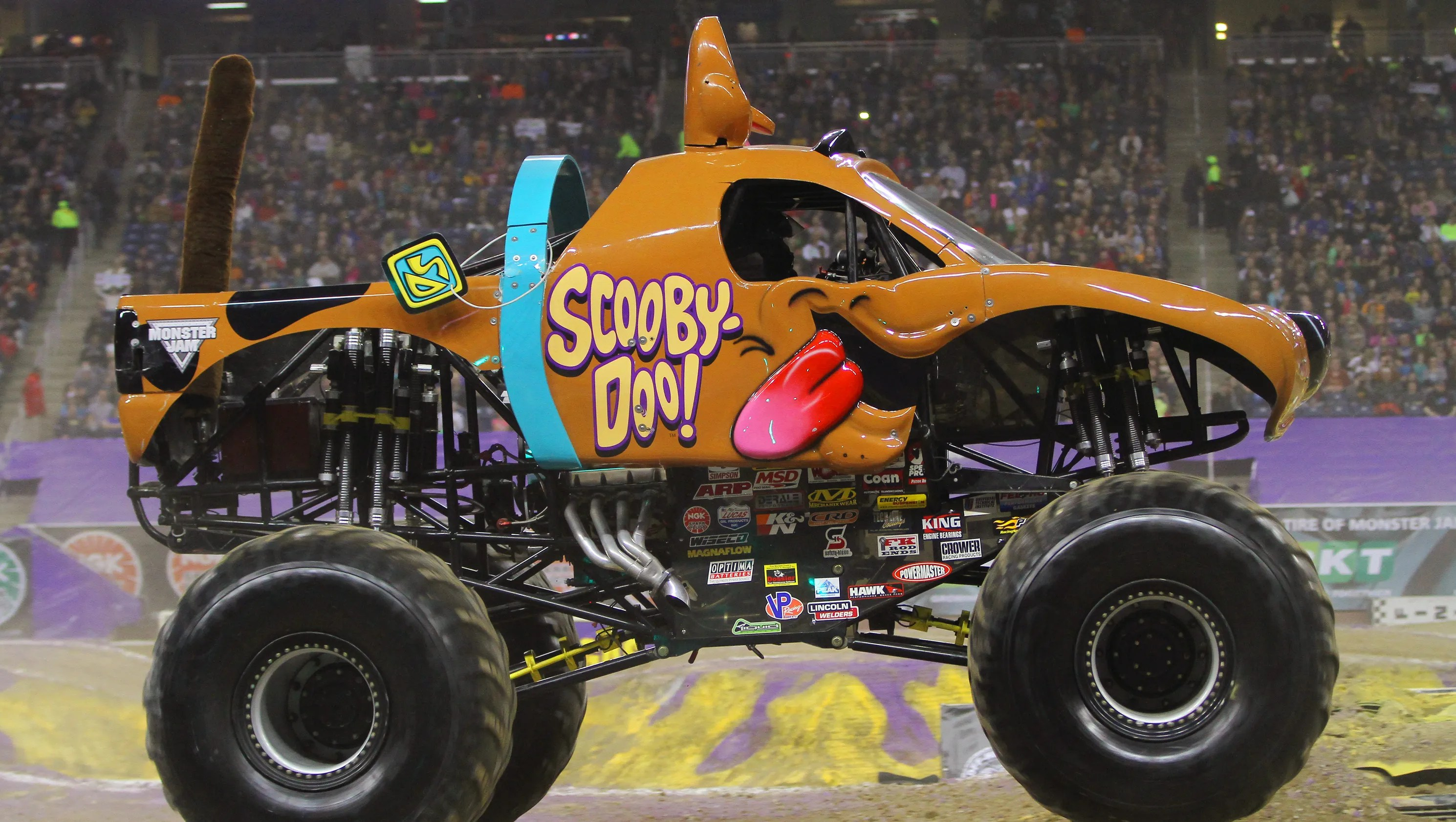 Monster Jam S Female Driver Not Afraid To Step On It