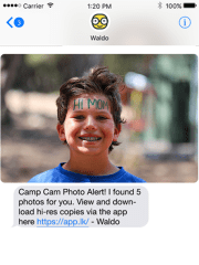 An example of a screen from Waldo Photos, which uses