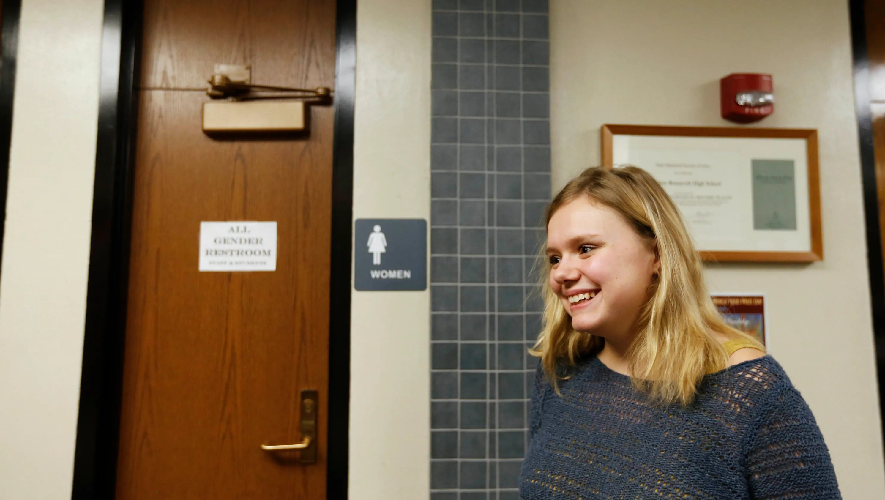 Student wants genderneutral bathrooms at all Des Moines