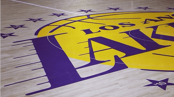 Lakers Staples Center floor celebrates 16 championships