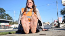 Walking across America Barefoot