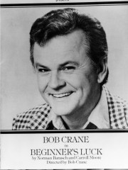 "Advertisement featuring actor Bob Crane in ""Beginner's"