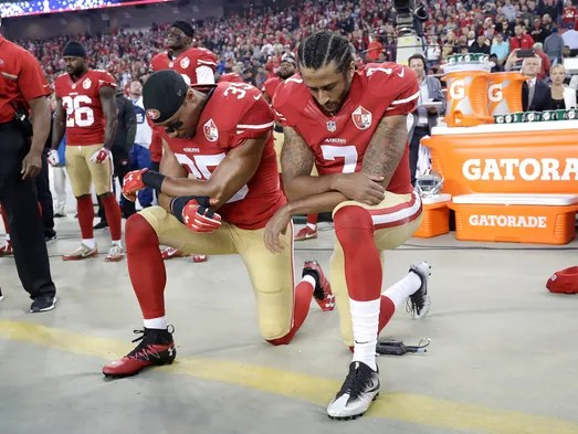 49ers safety Eric Reid joined Kaepernick in kneeling