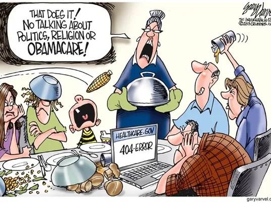 Cartoonist Gary Varvel Obamacare And Thanksgiving