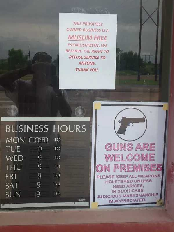 Oklahoma Gun Store Declares Muslim Free Zone