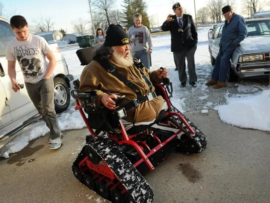 Legion post helps legless Vietnam vet to go hunting with