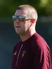 Arizona State offensive coordinator Billy Napier during