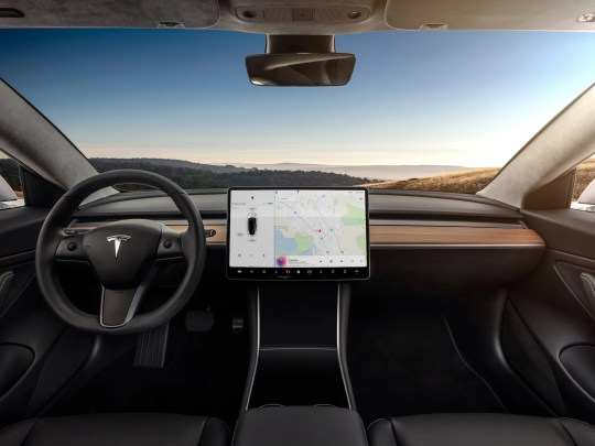 Tesla's cars can be wirelessly upgraded.