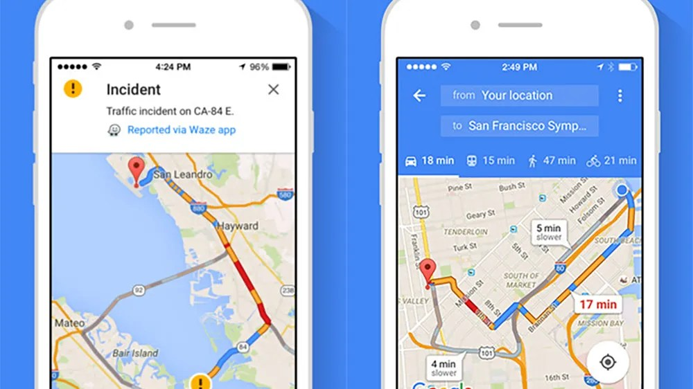 This is how Google Maps knows which route is the fastest at any given moment