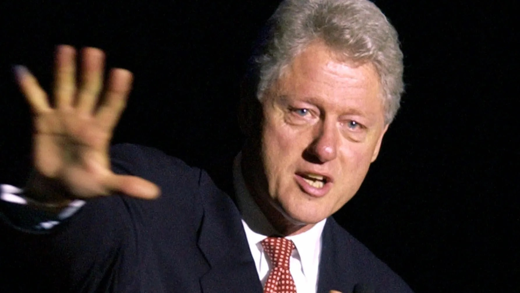 clinton in 2001 on