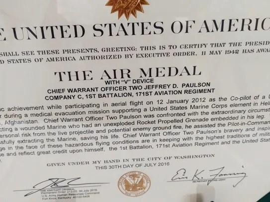 Tense rescue earns Wisconsin guardsman aviation medal