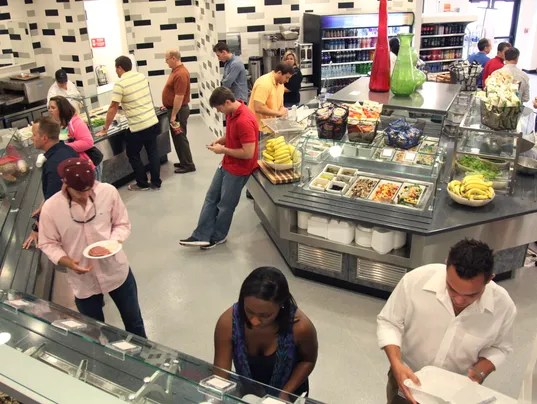 Companies keep employees happy with onsite cafeterias