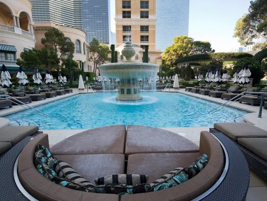 reading poolside lounge chair hand shaped tour the iconic bellagio las vegas
