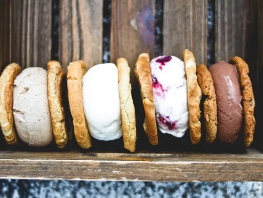 Ice cream sandwiches are a specialty during Moojo in