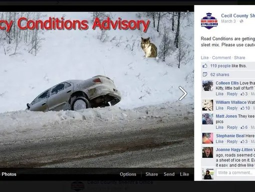 Cecil County Sheriff's Office started photoshopping