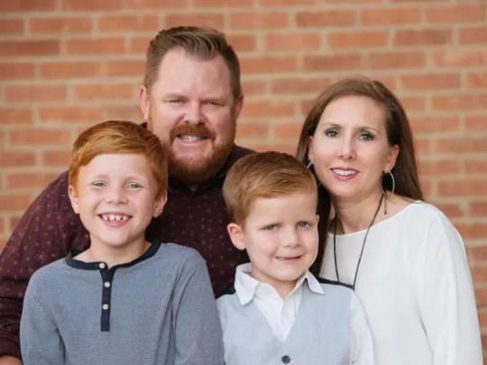 Shane and Shawnee Doherty pose with their sons, Rhett