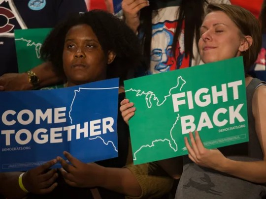 Attendees at the Come Together and Fight Back Tour