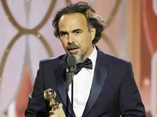 Alejandro G. Inarritu accepts the best director award