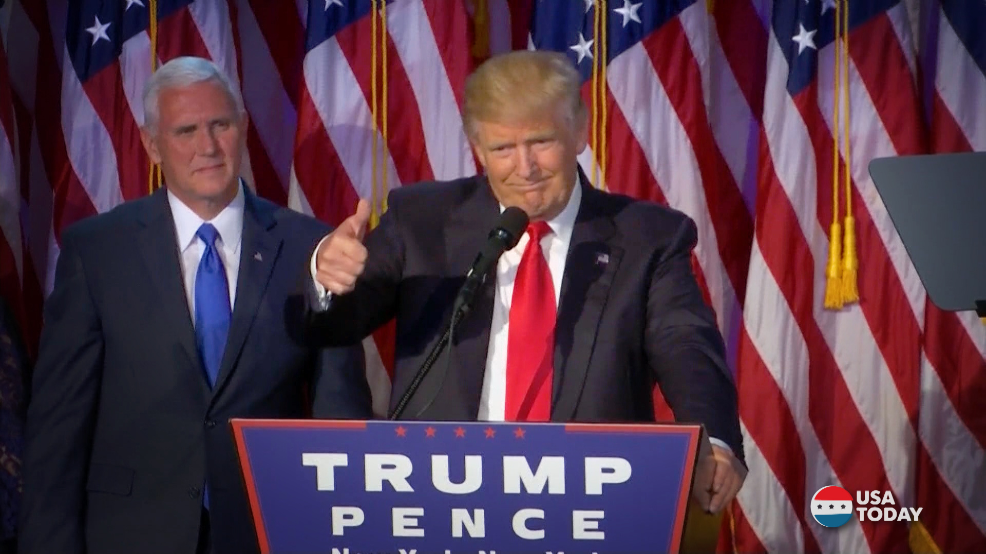 Image result for trump pence wins